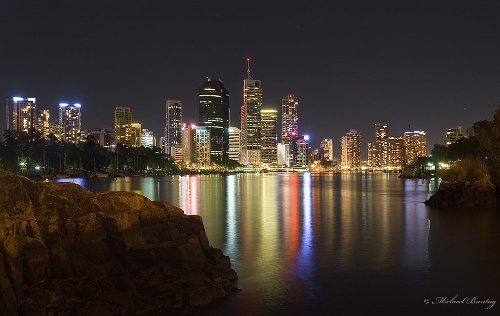 Brisbane CBD Skyline from the Kangaroo Point Cliffs, Brisbane
