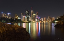 Brisbane CBD Skyline from the Kangaroo Point Cliffs, Brisbane