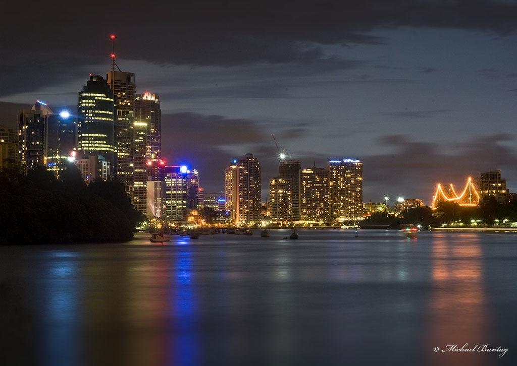 Brisbane Skyline and River, Kangaroo Point Cliffs