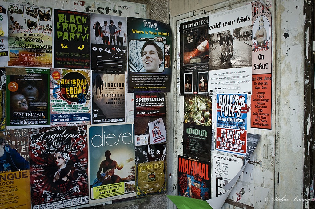 Posters, Chinatown, Fortitude Valley, Brisbane