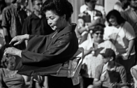Japanese Dancer, Nisei Week 2001 Grand Parade, Little Tokyo, Los Angeles, California. Nikon N90s, Ilford HP5+ BW 35mm film.