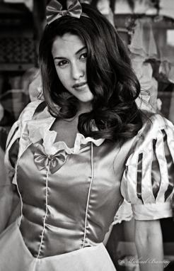 Rachel Sterling as Snow White, Trashy Lingerie, Los Angeles, California. Ilford HP5+ 35mm BW film.