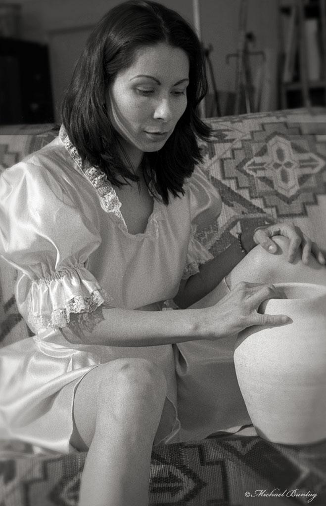 Portrait Studio Session, Bolton Hill, Baltimore, Maryland. Ilford HP5+ 35 mm BW film.