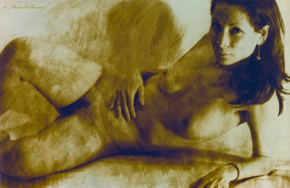 Nude 1st Studio Session, Bolton Hill, Baltimore, Maryland. Toned Print. Ilford FP4+ 35mm BW film.