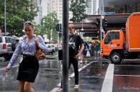 Pedestrians, Elizabeth Street, Brisbane CBD, Queensland