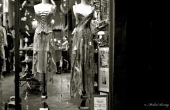 Store Window, (3rd) Third Street Promenade, Santa Monica, Los Angeles, California. Fujifilm Neopan 1600 35 mm BW film.
