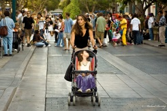 Mother and Child: 3rd (Third) Street Promenade, Santa Monica, Los Angeles, California