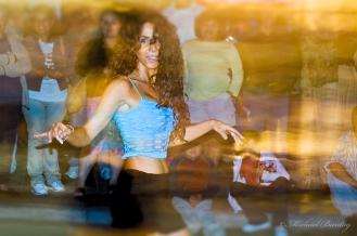 Salsa Dancer, 3rd (Third) Street Promenade, Santa Monica, Los Angeles, California
