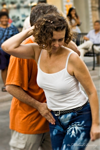 Swing Dancers, 3rd (Third) Street Promenade, Santa Monica, Los Angeles, California