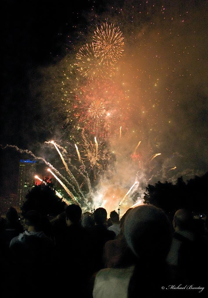 Fireworks, Riverfest 2008, South Bank Parklands, Brisbane, Queensland
