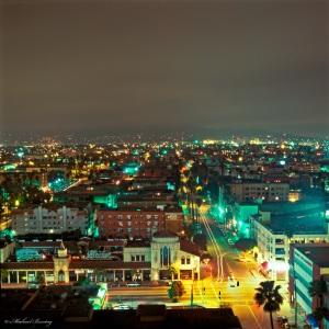 The Gaylord, Mid-Wilshire, Los Angeles, California. Fuji RHPIII Provia 400F Positive 120 mm Slide Film.