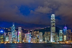 Avenue of the Stars, Skyline/Cityscape, Tsim Sha Tsui waterfront, Victoria Harbour, Yau Tsim Mong District, Kowloon, Hong Kong