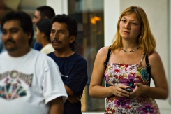 Audience, (Third) 3rd Street Promenade, Santa Monica, Los Angeles, California