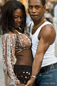 Salsa dancers, Third (3rd) Street Promenade, Santa Monica, Los Angeles, California