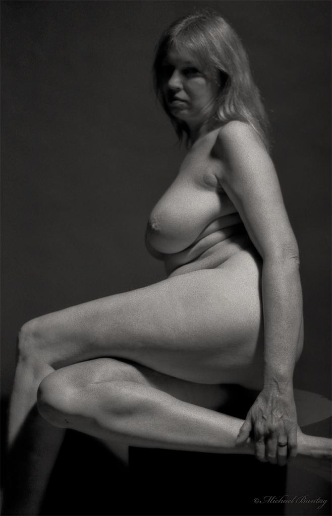 Nude Photo Session, Bolton Hill, Baltimore, Maryland. Kodak Tr-X 5063 400 BW negative film.