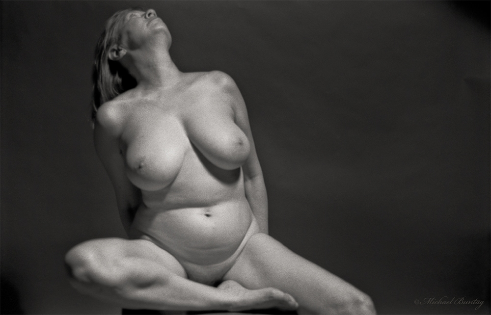 Nude Photo Session, Bolton Hill, Baltimore, Maryland. Kodak Tr-X 5063 BW 35 mm negative film.