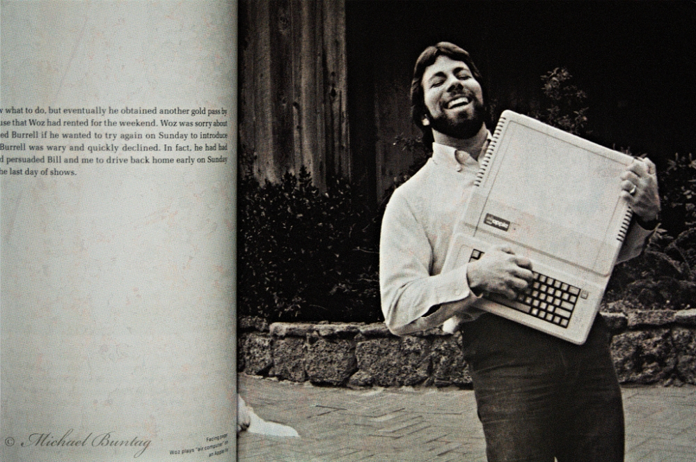Steve Wozniak and Aplple II computer, Revolution in the Valley, CBD, Brisbane, Queensland