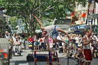 Street Acrobats, Queen Street Mall, CBD, Brisbane, Queensland