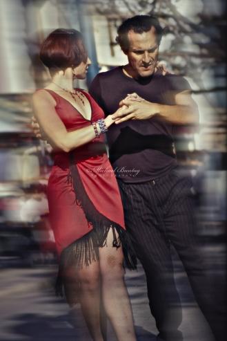 Argentine Tango Dancers, 3rd Third Street Promenade, Santa Monica, California
