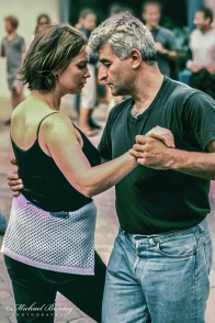 Argentine Tango Dancers, 3rd Third Street Promenade, Santa Monica, Los Angeles, California. Fujifilm RA Sensia 100 color positive slide 35mm film. Cross processed.
