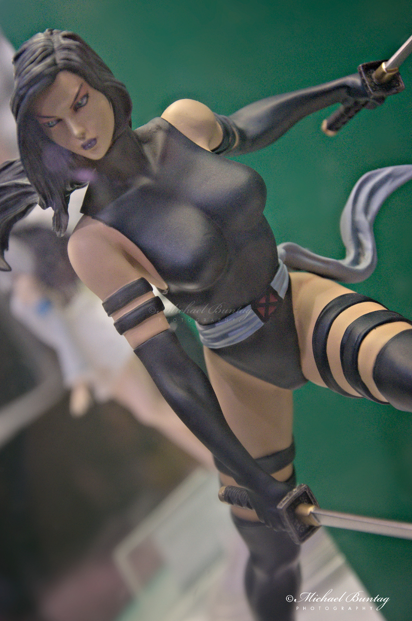 Marvel X-Men Psylocke PVC Figures, The 13th Philippine Toys, Hobbies and Collectibles Convention 2014, Megatrade Hall, SM Megamall, Mandaluyong, Manila