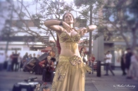 Gypsy Dancer, 3rd Third Street Promenade, Santa Monica, California. Kodak E200 35 mm color positive film.