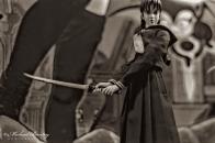 Saya, Blood: The Last Vampire PVC Figures, Comic-Con International, San Diego Convention Center, Marina District, San Diego, California. Ilford HP5+ Black and White 35mm negative film.