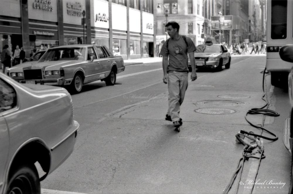 Manhattan, New York, New York. Ilford HP5+ BW negative 35mm film.