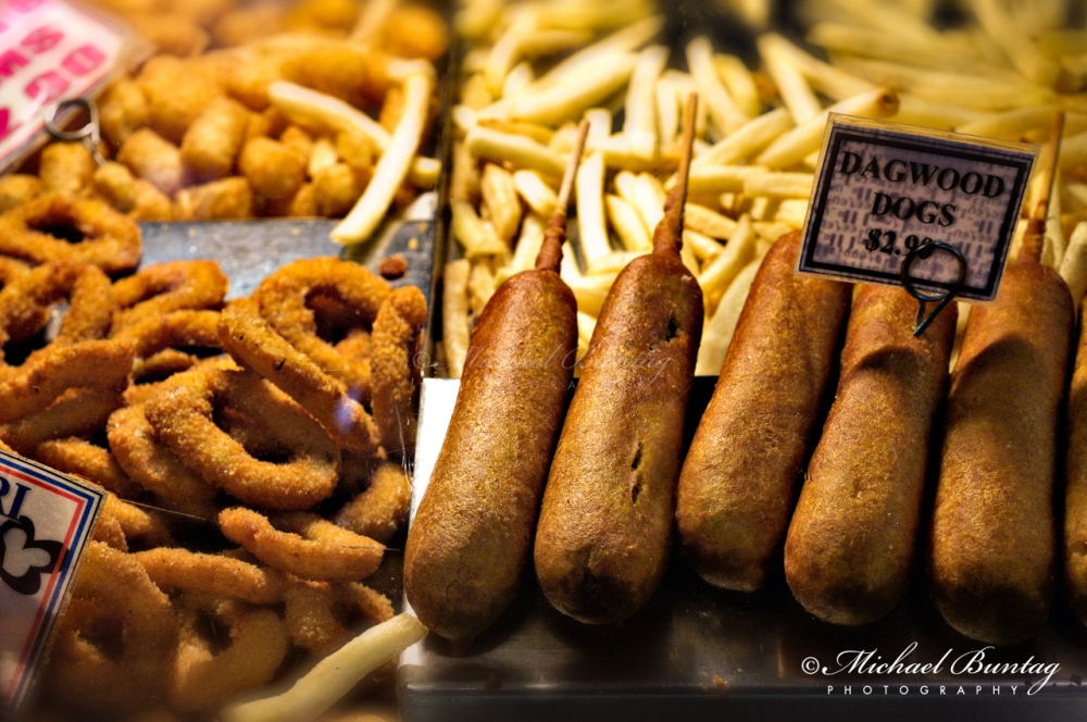 Dagwood dogs, fatty foods, South Bank Parklands, Brisbane, Queensland