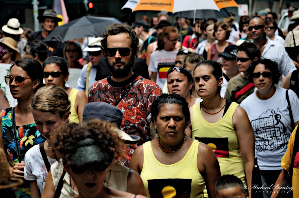 Invasion Day Protest 2009, George Street, CBD, Brisbane.